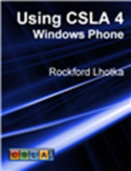 Picture of Using CSLA 4: Windows Phone